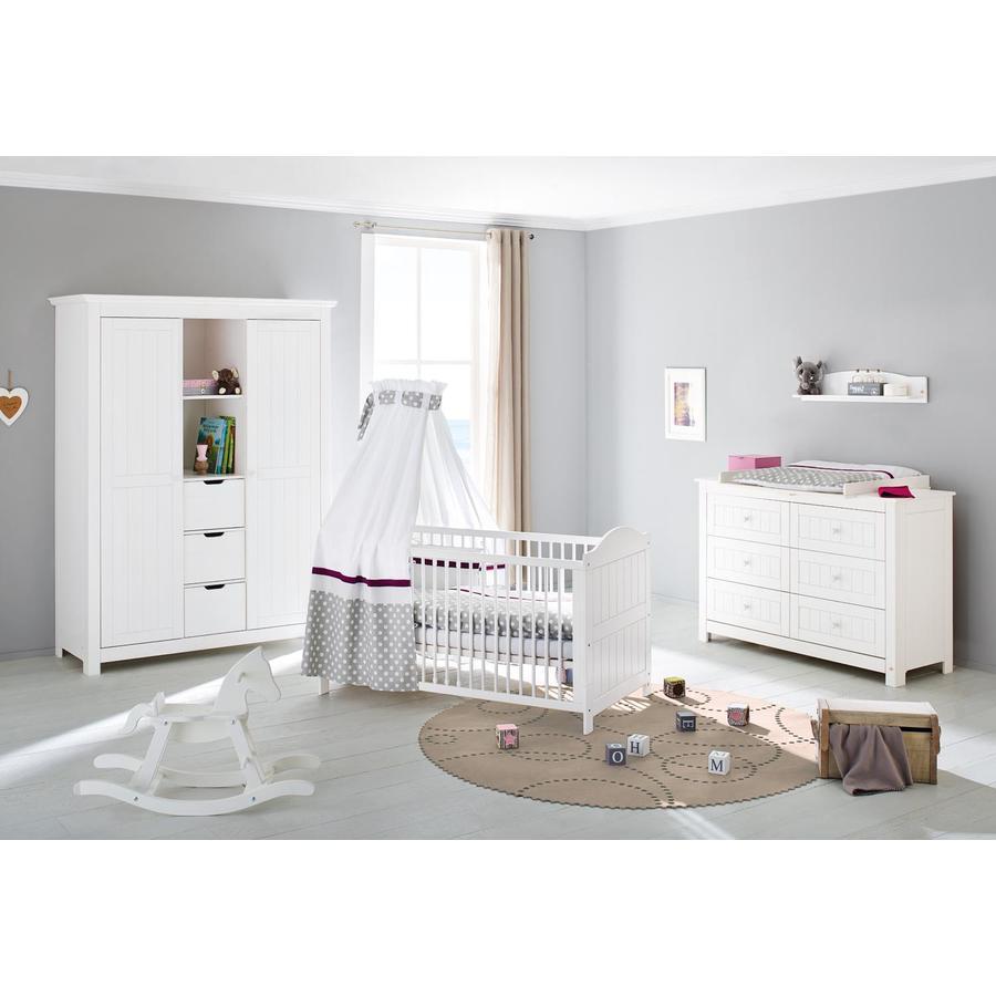 Pinolino Cameretta neonato Nina, extra ampia, armadio grande a 2-ante