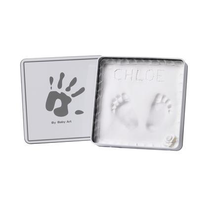 Baby Art Sádrový otisk v dóze - Magic Box, hranatý, White