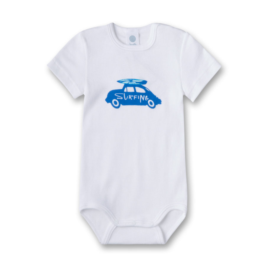 Sanetta Boys Romper 1/4 Arm white