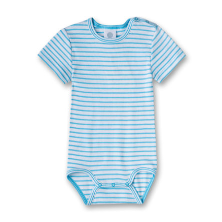 SANETTA Boys Romper 1/4 Arm malibu blue