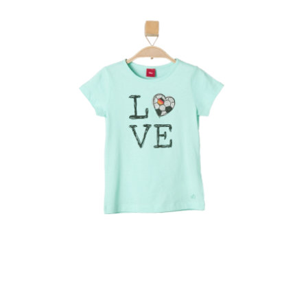 s.OLIVER Girls T-Shirt blue green