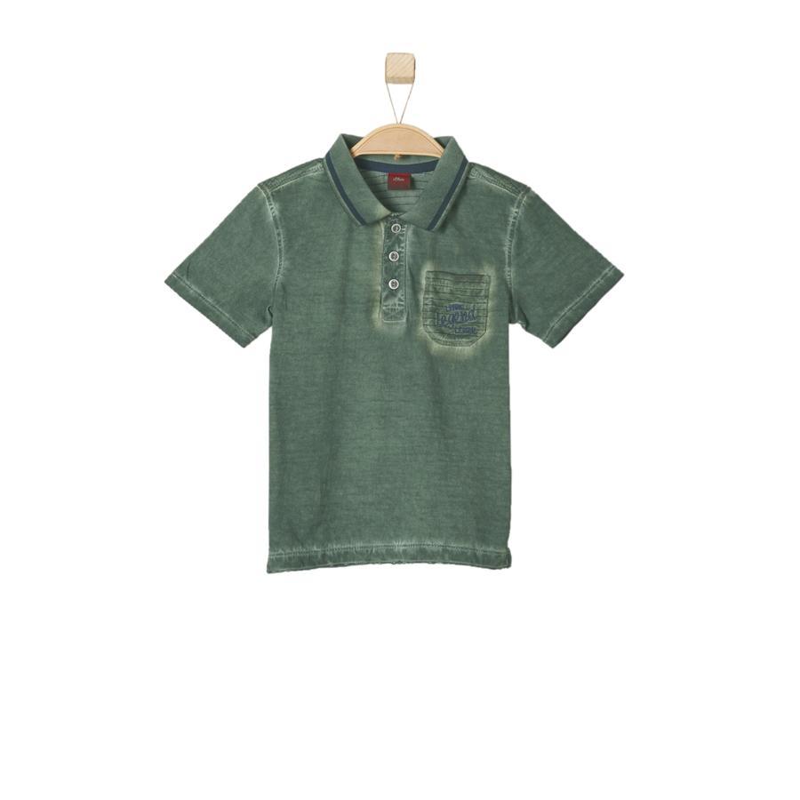 s.OLIVER Boys Polo tričko khaki