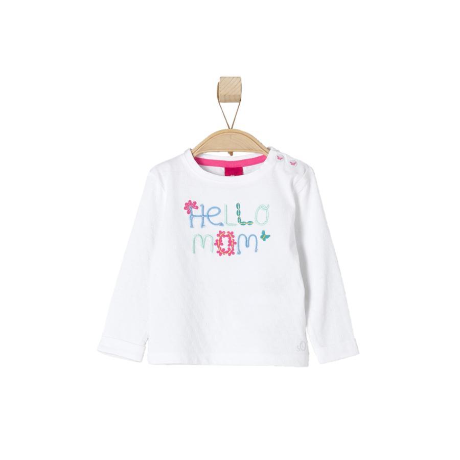 s.OLIVER Girls Baby Maglia a manica lunga white