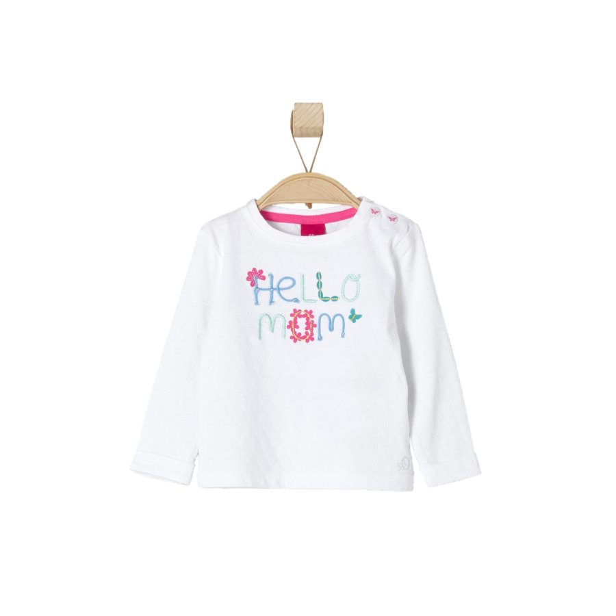 s.OLIVER Girls Baby Maglia a manica lunga white