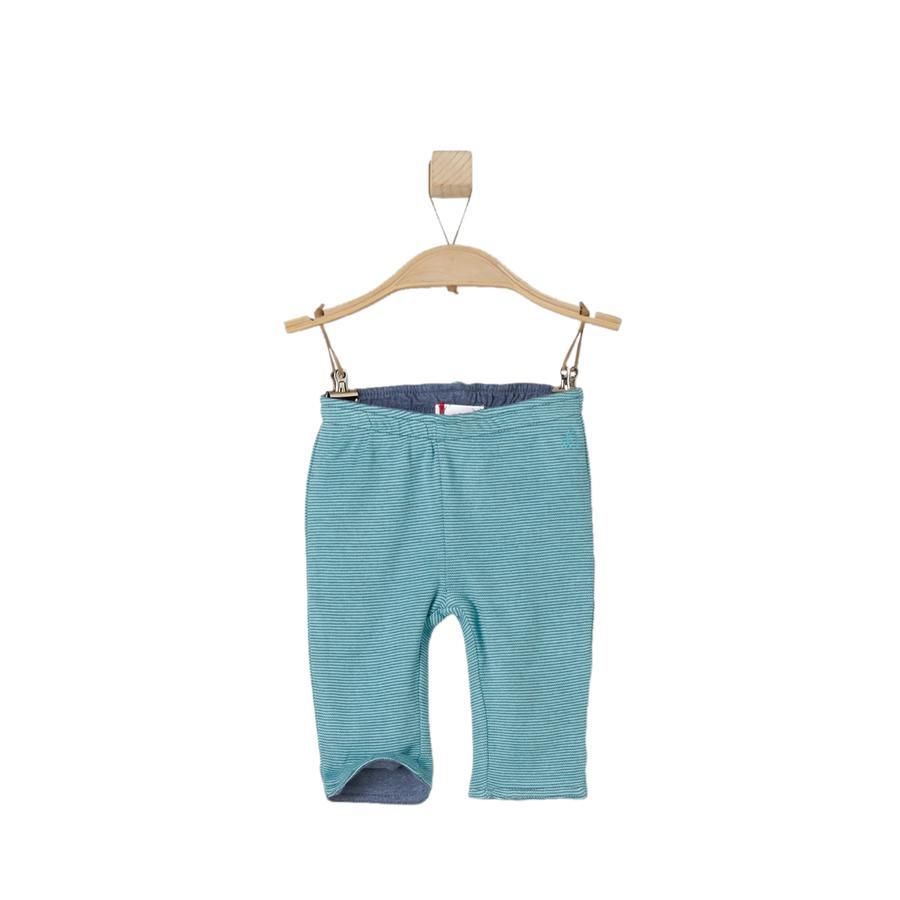 s.OLIVER Boys Omkeerbare broek met turquoise strepen en turquoise strepen