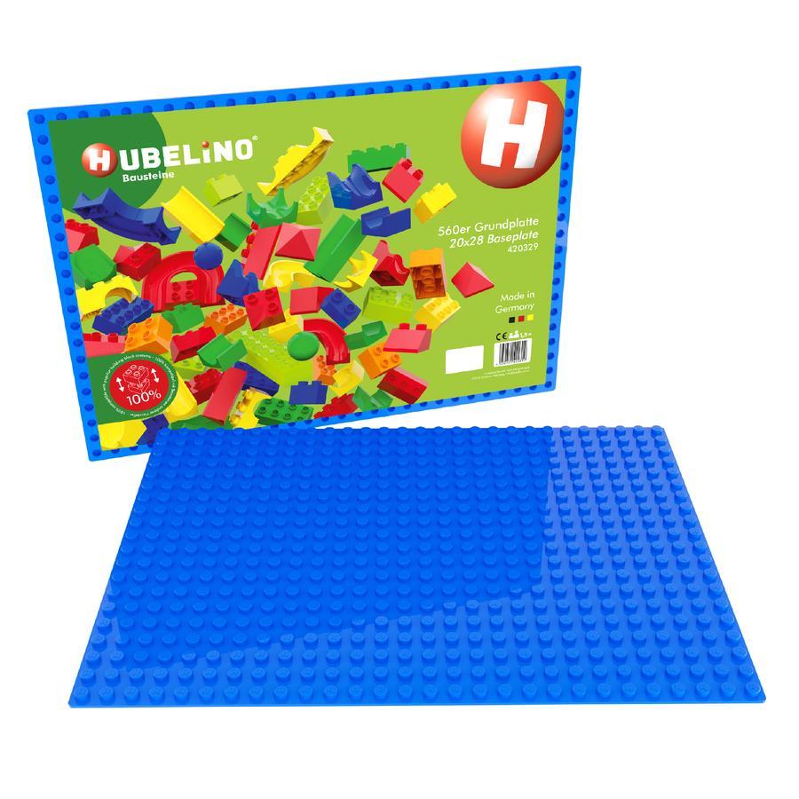 HUBELINO® Bausteine - 560er Grundplatte Blau