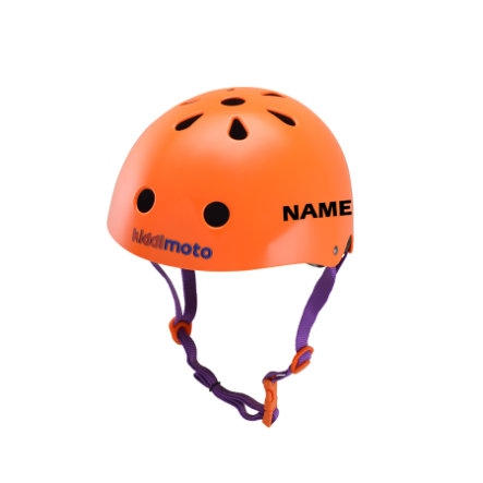kiddimoto® Helm Design Sport, Neon Orange - Gr. S, 48-53cm
