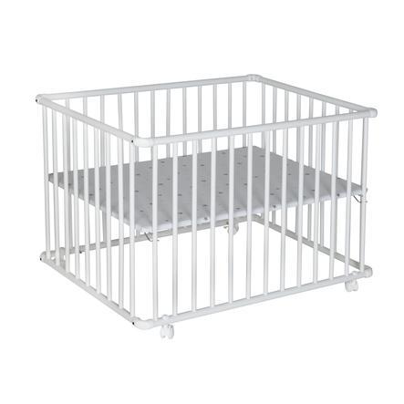 Schardt Parque infantil Basic Blanco 100 x 100 estrellitas grises