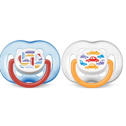 AVENT/PHILIPS Pacifier Classic Silicone 6-18m Colour Boys SCF172/22