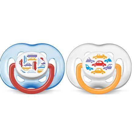 AVENT/PHILIPS Sucettes orthodontiques Classic 6-18 mois SCF172/22 sans BPA