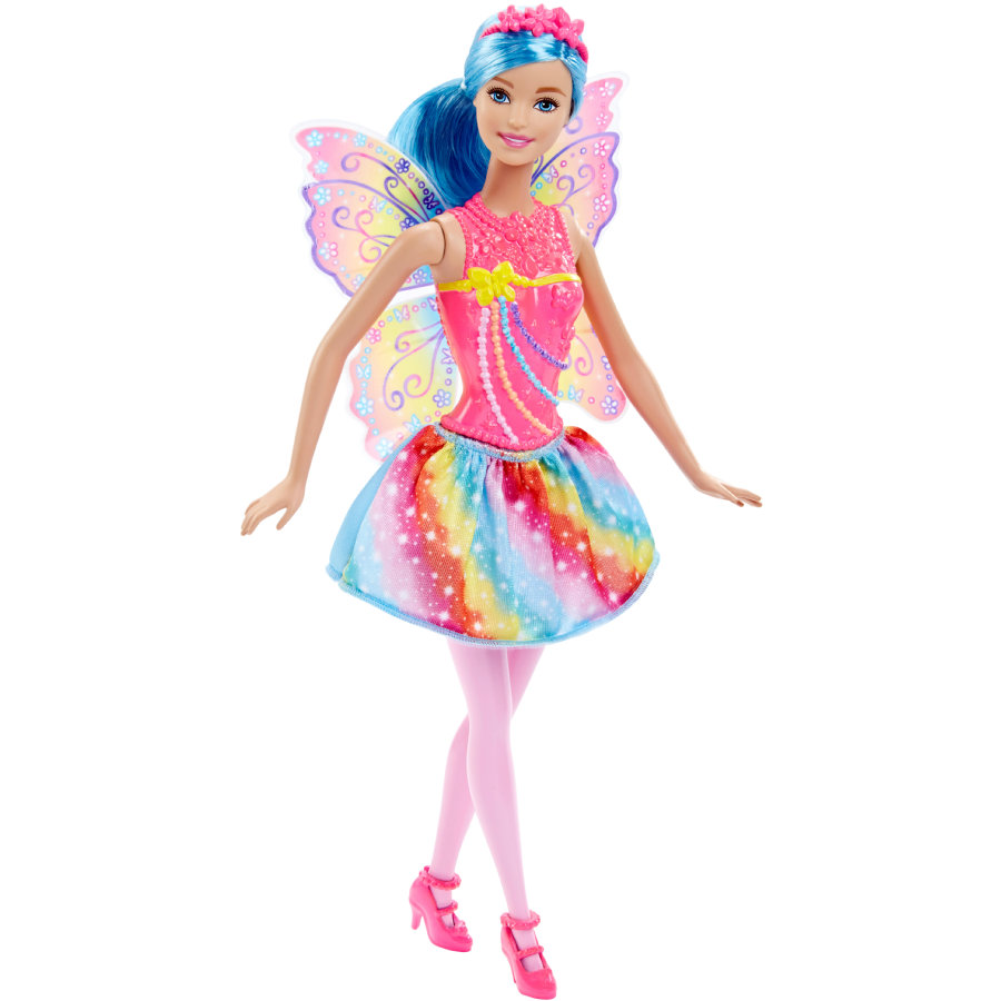 MATTEL Barbie 4 Royaumes - Fée multicolore arc-en-ciel