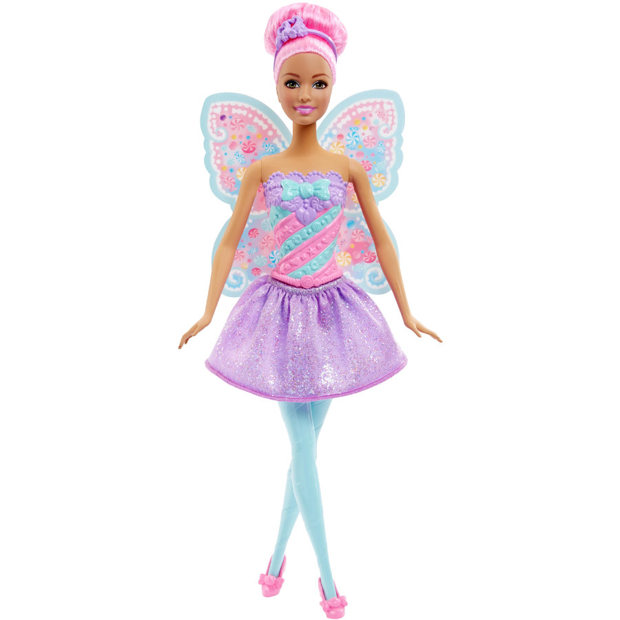 MATTEL Barbie 4 Royaumes - Fée multicolore bonbons