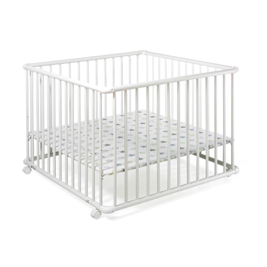 Geuther Laufgitter Belami 102 x 102 cm weiß Folie 032 Sterne