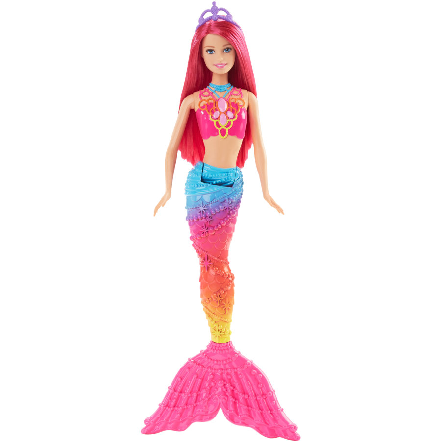 MATTEL Barbie 4 Royaumes - Sirène multicolore arc-en-ciel