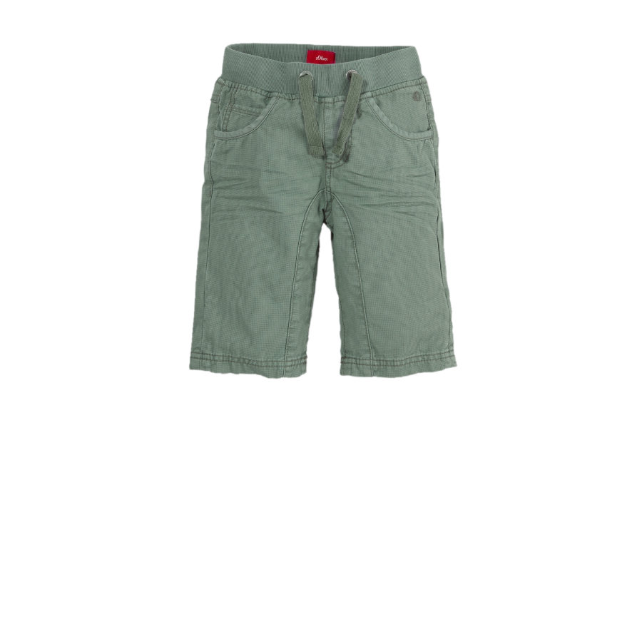 s.OLIVER Boys Hose 3/4 khaki regular