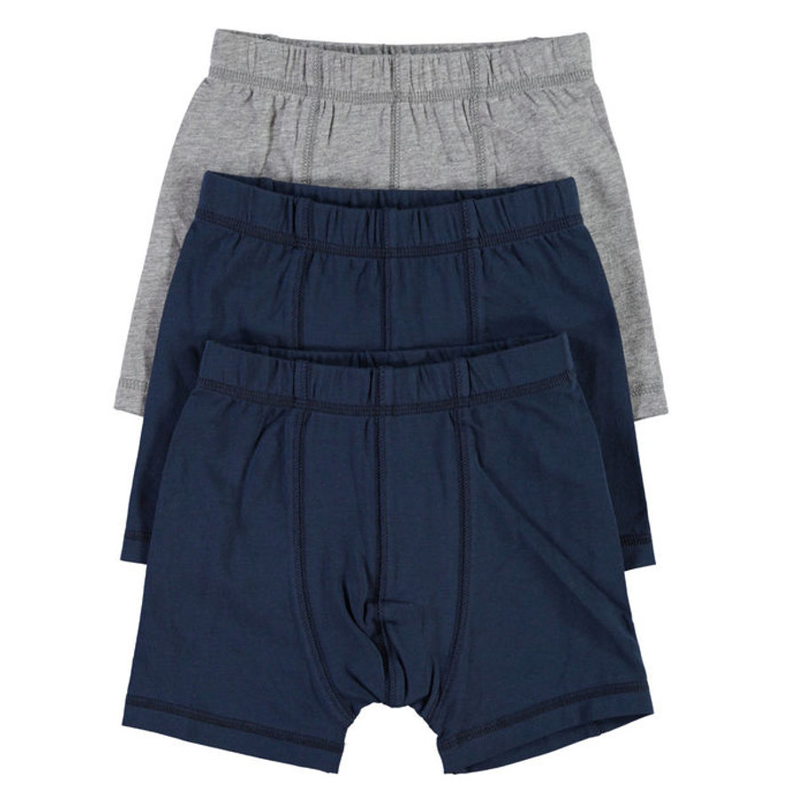 NAME IT Boys Boxershort 3er Pack grey melange