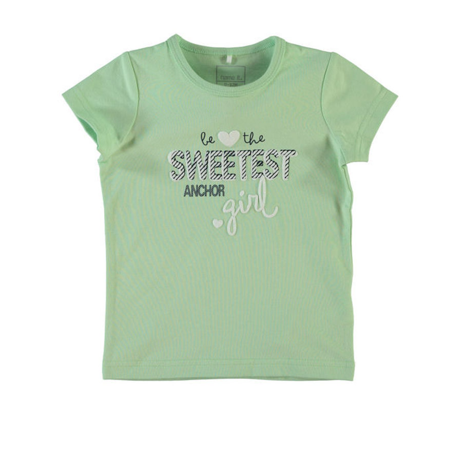 NAME IT Girls Tričko NITVIX pastel green