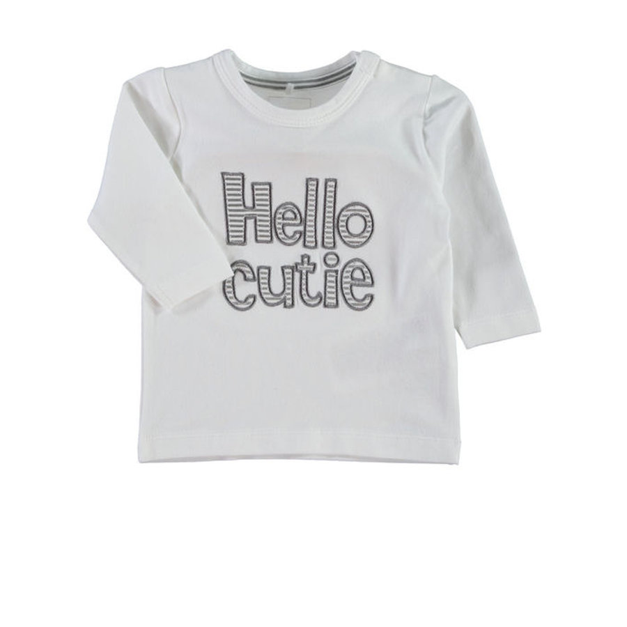 NAME IT Newborn Unisex Longsleeve UDDI wit
