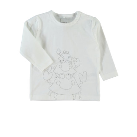 NAME IT Newborn Unisex Longsleeve UNOK weiß