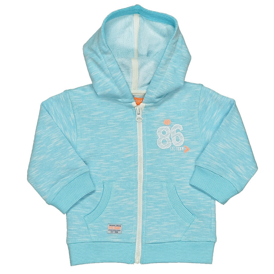 STACCATO Boys Baby Sweatjacke aqua melange structure