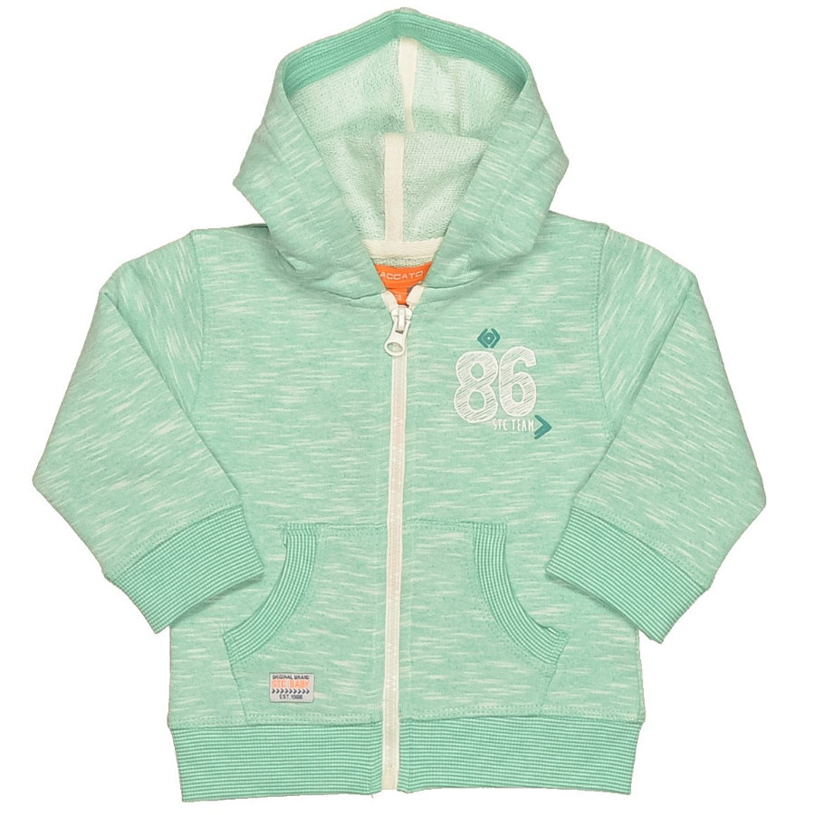 STACCATO Boys Baby Sweatjacke green melange structure