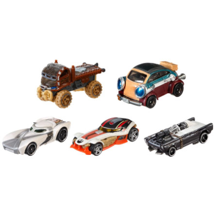 MATTEL Hot Wheels Star Wars - Helden des Widerstands 5er-Pack
