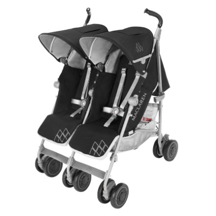 MACLAREN Tvillingevogn Twin Techno Black