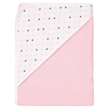 BEBE JOU Ręcznik kąpielowy z kapturem Pretty pink