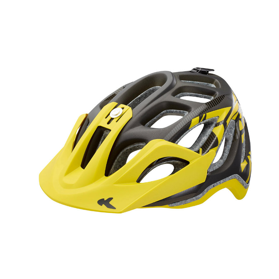 KED Casque de vélo enfant Trailon Black Yellow Matt T. L, 56-62 cm