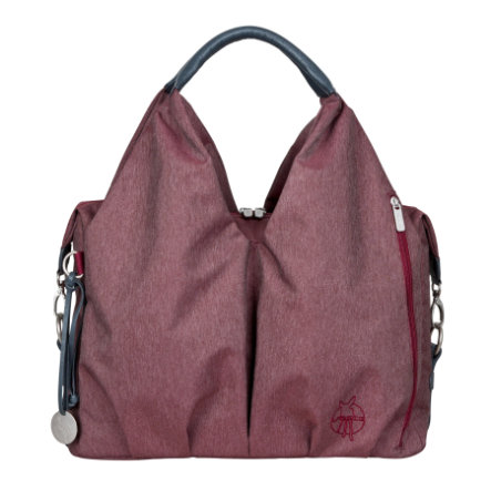 LÄSSIG Borsa fasciatoio a spalla Green Label Bag Ecoya burgundy red