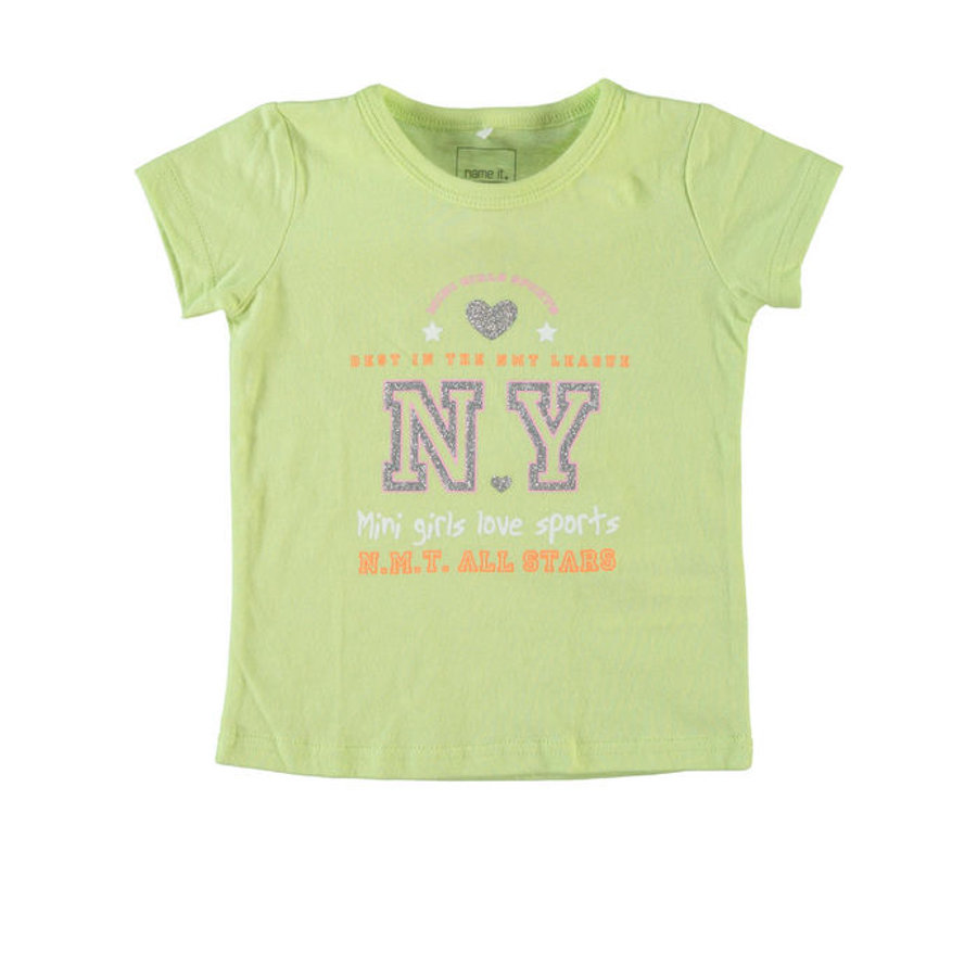 NAME IT Girls T-Shirt NITVAIKEN shadow lime