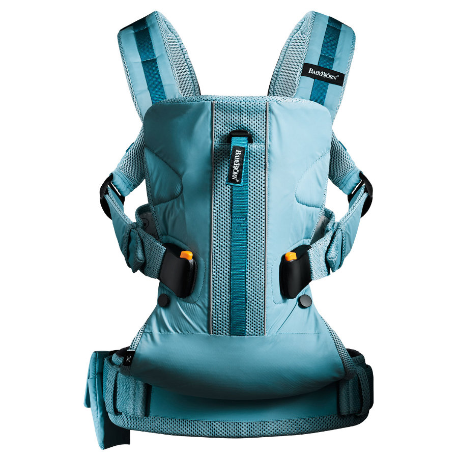 BABYBJÖRN Babytrage One Outdoors Mesh Türkis