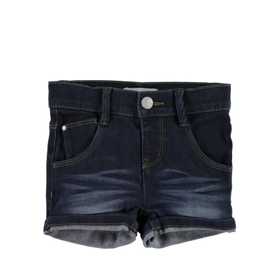 NAME IT Girls Džínové šortky NITSIRI slim dark blue denim