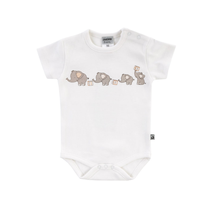 JACKY Body Romper Elephant Wit