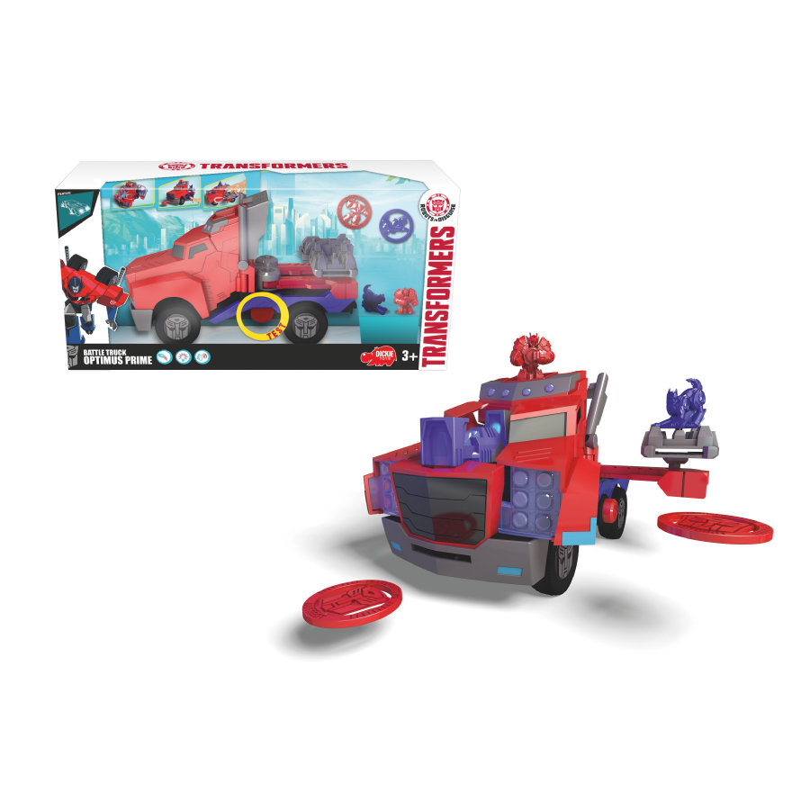 DICKIE Toys Camion Optimus Prime Battle Truck