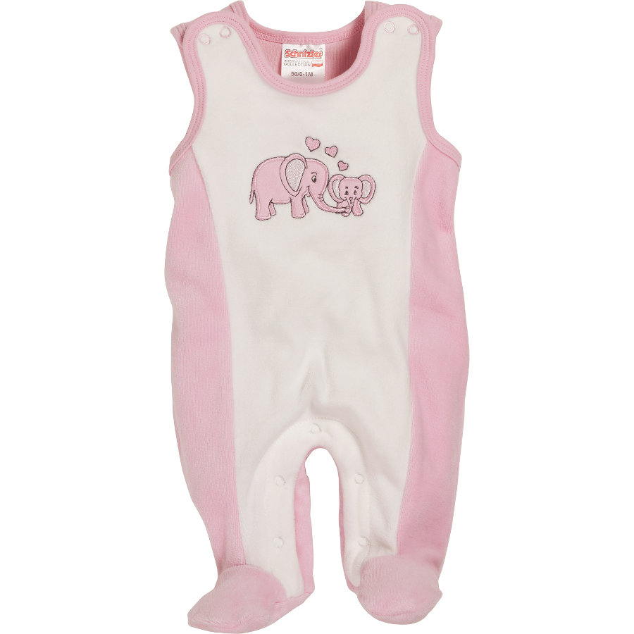 Schnizler Girls Strampler-Set Nicki Elefant Rose