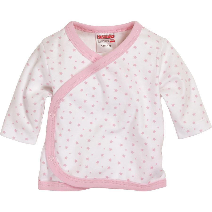 Schnizler Girls Zavinovací tričko hvězdičky bílo/růžové