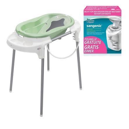 ROTHO Ensemble de bain TOP vert tilleul, avec poubelle à couches SANGENIC MK gratuite