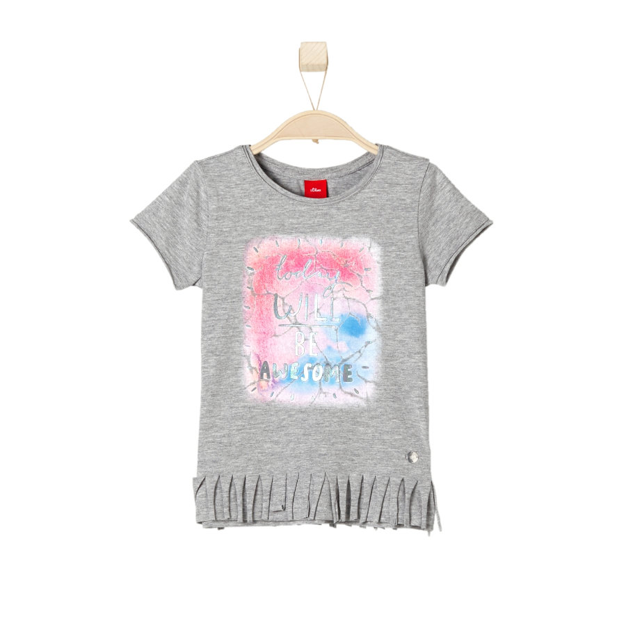 s.OLIVER Girls T-Shirt grey melange