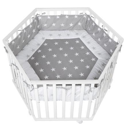 roba Parque infantil Cosiplay hexagonal blanco estrellitas