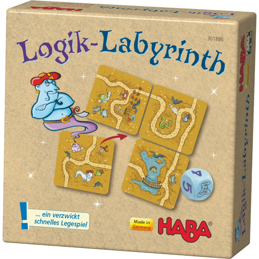 HABA Gra planszowa, układanka - Labirynt logiczny