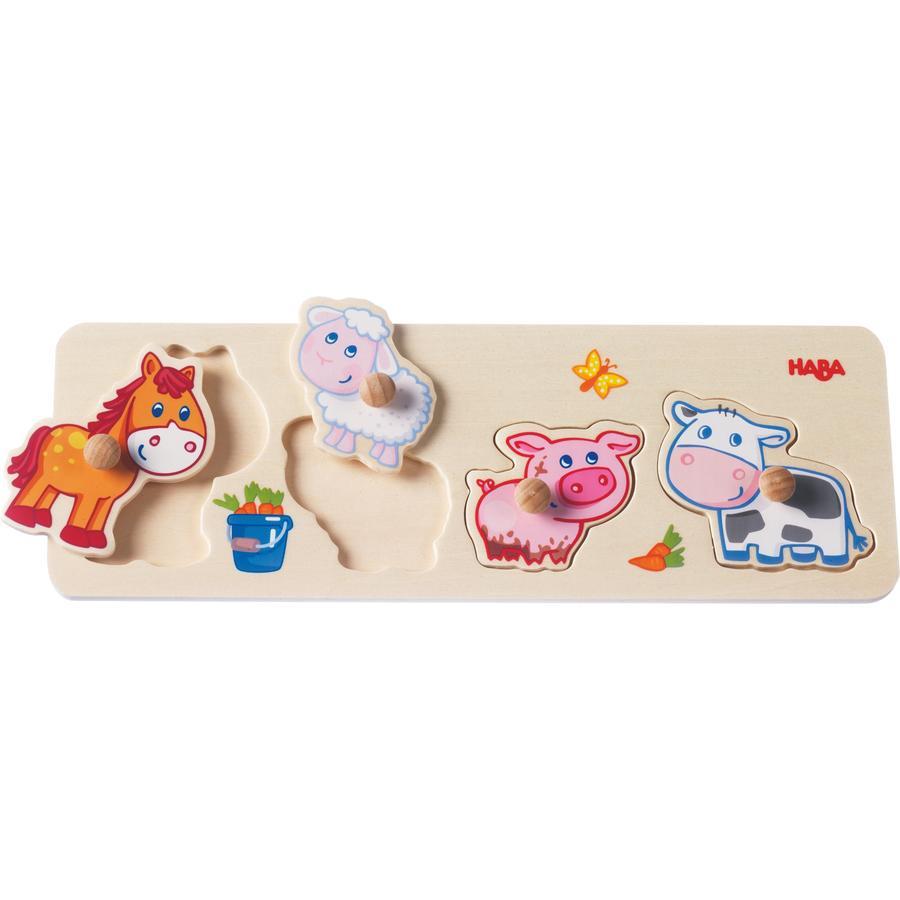 HABA Puzzle con bottoni Animali della fattoria 301939