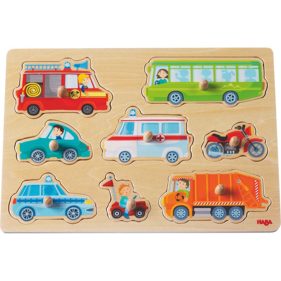 HABA Puzzle con bottoni Veicoli 301940