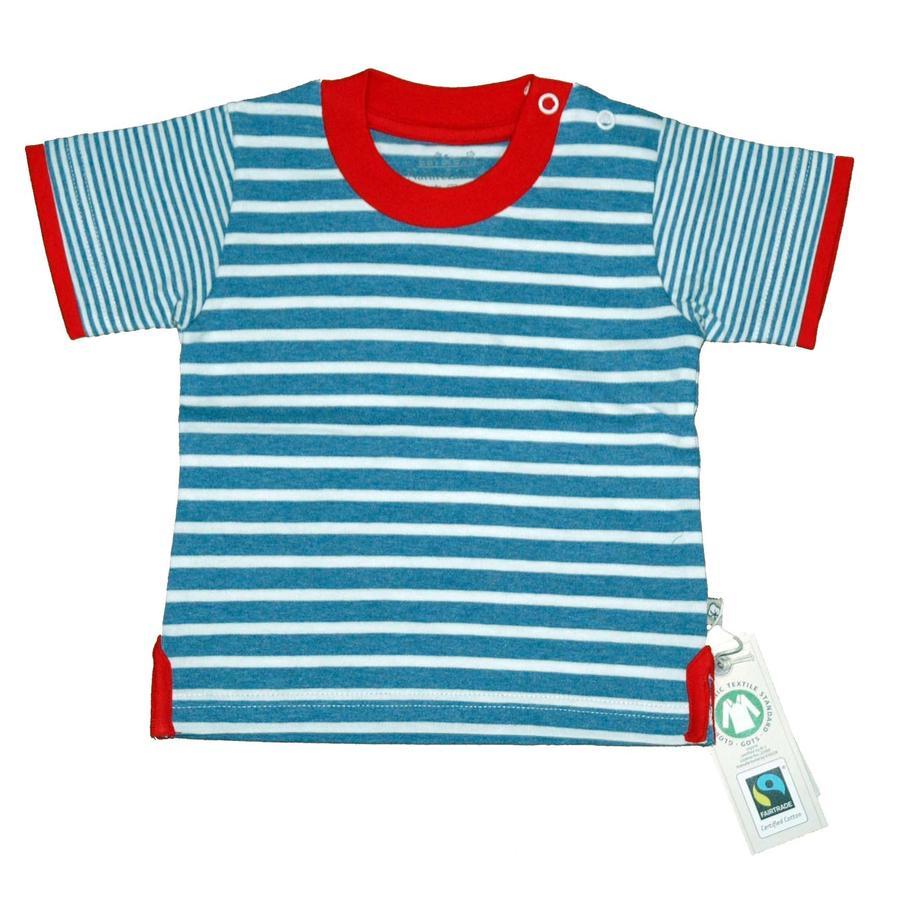 EBI & EBI Fairtrade raakt T-Shirt spijkerstof aan.