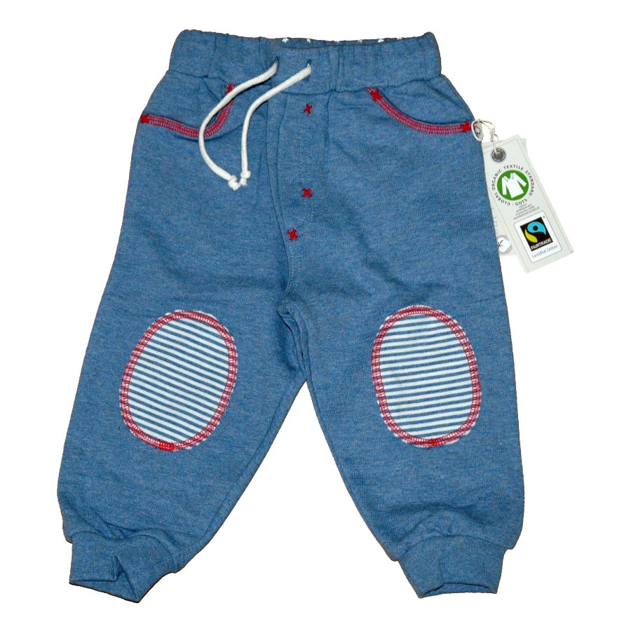 Pantalones de jogging EBI & EBI Fairtrade en denim mélange