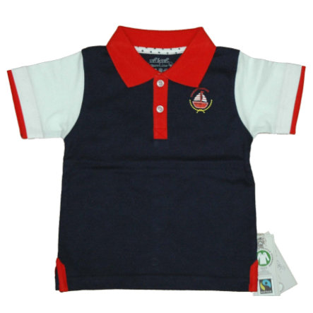 EBI & EBI Fairtrade Poloshirt blu scuro