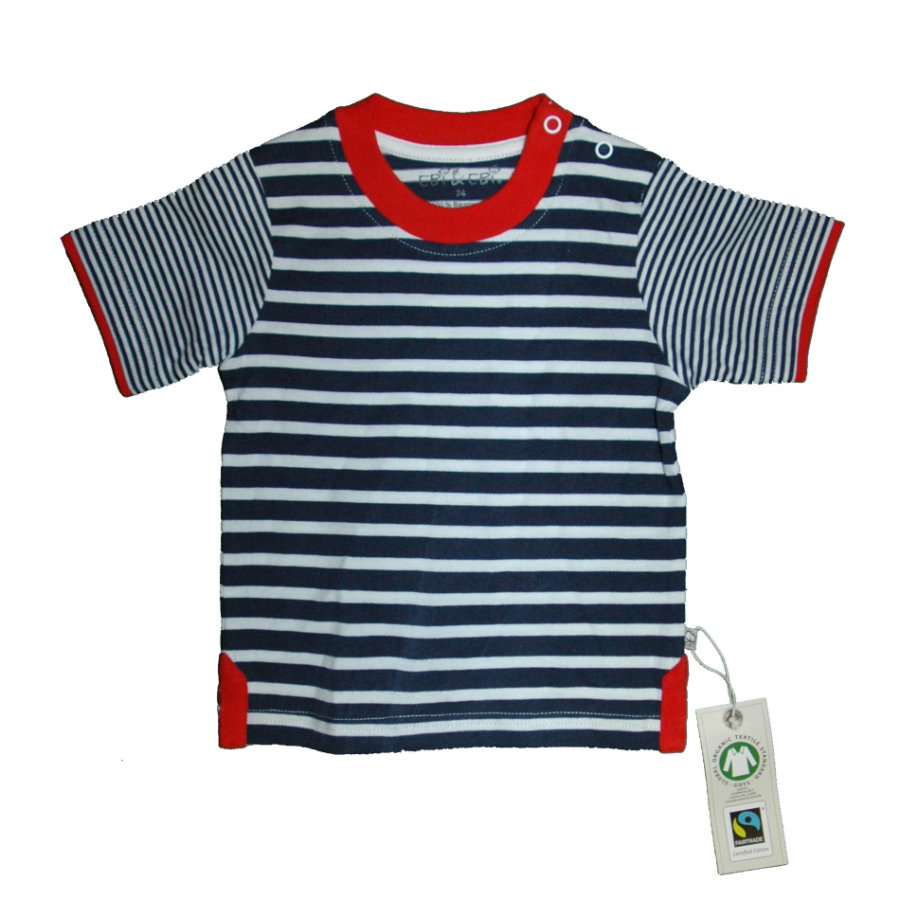 EBI & EBI Fairtrade T-Shirt gestreift marine