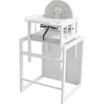 ROBA Kombinovaná jídelní židlička Heartbreaker, bílá