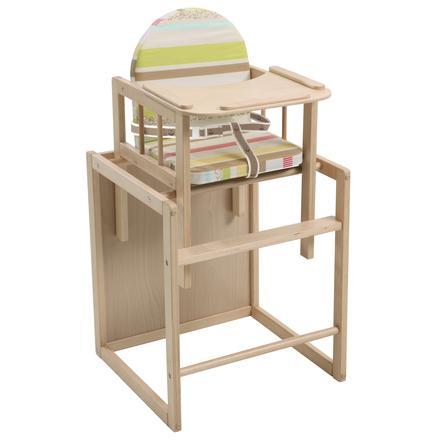 ROBA Kombinovaná jídelní židlička dítě džungle, přírodní
