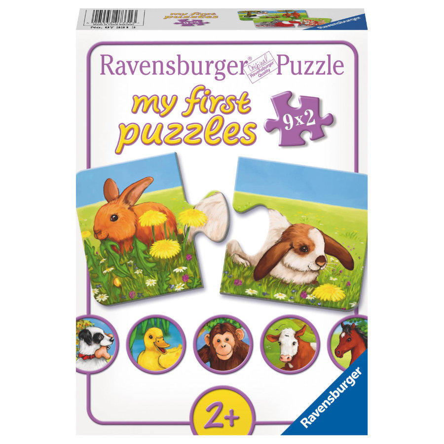 RAVENSBURGER My first Puzzle Adorables animaux 2 pièces